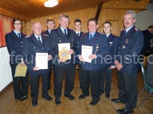 Jahreshauptversammlung 2015 - Beförderte und geehrte Mitglieder